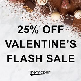 """Happy Valentine's Day! Thermapen are sharing the love today by giving you an exclusive 25% OFF the Red Thermapen Professional! Simply enter the code """"HEART-25"""" at the checkout stage online. Valid until midnight 15/02/2019. . . . . . #valentinesday #happyvalentines #valentines2019 #thermapen #temperature #thermometer #nomnom #foodblogger #madeinbritian #1000makers #eeeeeats #foodhygiene #cookedtoperfection #thefeedfeed #catering #chef"""