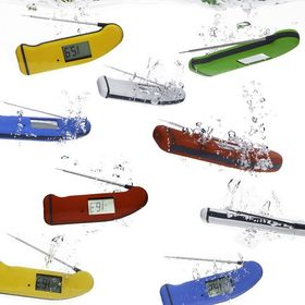 Did you know that our Thermapen Professional is waterproof to IP66/67? This means you can dunk it in the washing up bowl, give it a clean and safely know that your thermometer will still take accurate temperatures every time! NB: Not dishwasher safe. . . . . . #waterproof #thermapen #temperature #cookingperfection #madeinbritain #foodhygiene #colourpop #nomnom #foodblogger #thefeedfeed #catering #bbq #cookingram #chef #1000makers #BritishMade #britishmanufacturing