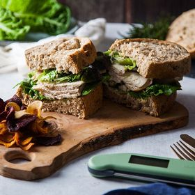 Leftover chicken from yesterdays roast dinner? How about a delicious sarnie for lunch today! Find out 5 other ways you can use leftover chicken to make that budget stretch a little further this month. Link to blog in bio ⬆️ . . . . . . #chickensandwhich #roastchicken #caesarsalad #chickencaesar #chickensalad #cookedchicken #chicken #healthydiet #healthylunch #lunchprep #thermapen #temperature #thermometer #madeinbritian #1000makers #nomnom #foodbloggers #budget #budgetshopping